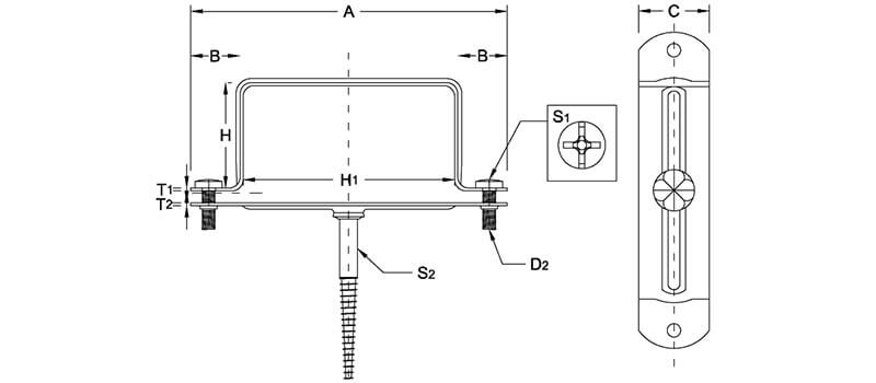 clamps type 113  for square pipes