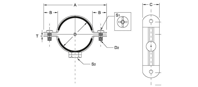 Stainless steel pipe clamps (for all type of pipes) Type 400ss